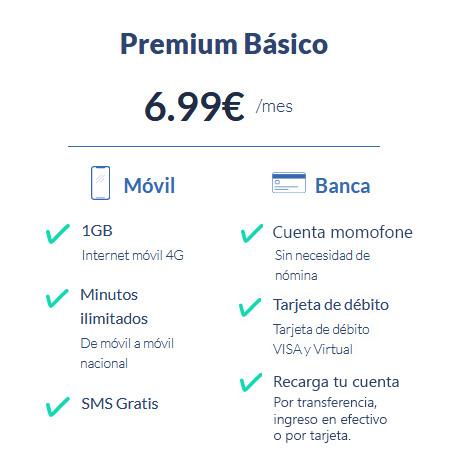 tarifa premium basica momofone